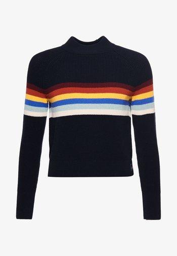WHITAKER  - Print T-shirt - eclipse navy stripe