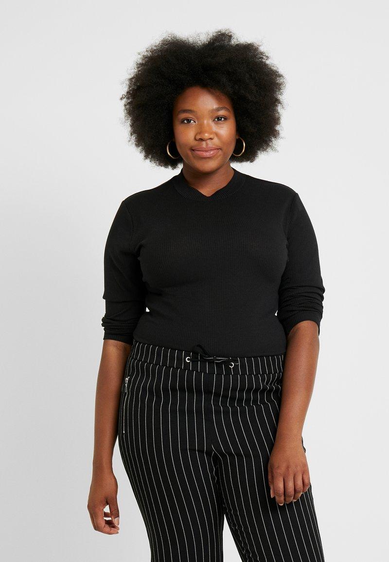 Cotton On Curve - MOCK NECK LONG SLEEVE - Jumper - black
