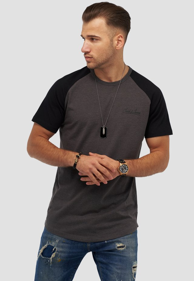JORHUNTER - Print T-shirt - dark grey melange