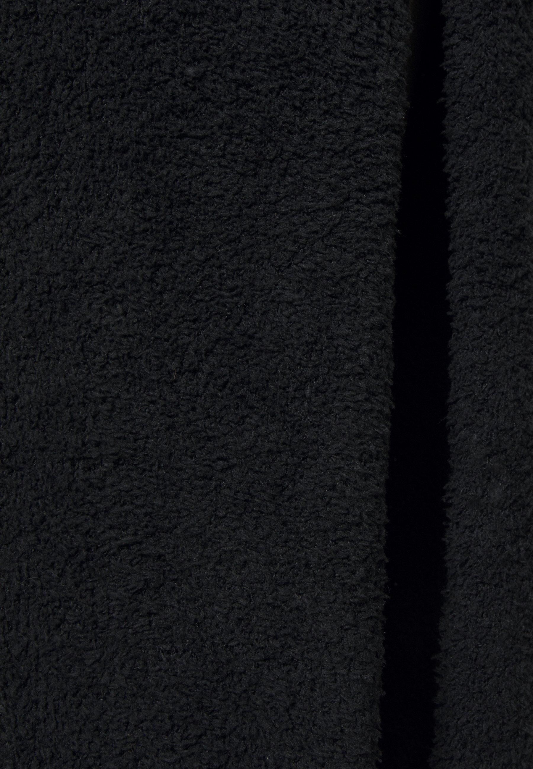Missguided Petite Fluffy Slouchy Side Split Jumper Dress - Strikkegenser Black/svart