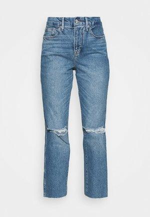 GOOD CURVE STRAIGHT RAW HEM - Straight leg jeans - blue