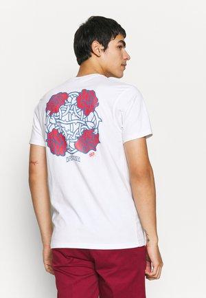 DRESSEN ROSES CLUB UNISEX  - T-shirt print - white
