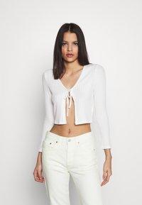 Topshop - COSY BRUSHED RIB  - Langærmede T-shirts - winter white - 0