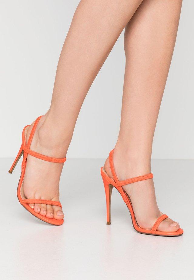 GABRIELLA - Højhælede sandaletter / Højhælede sandaler - red/orange