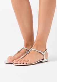 Lauren Ralph Lauren - ELMSTEAD - T-bar sandals - bright silver - 0
