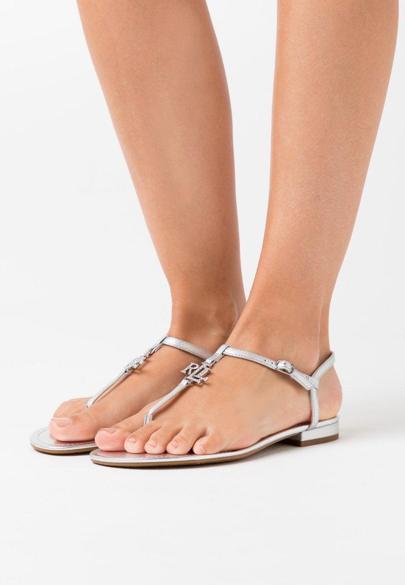 Lauren Ralph Lauren - ELMSTEAD - T-bar sandals - bright silver