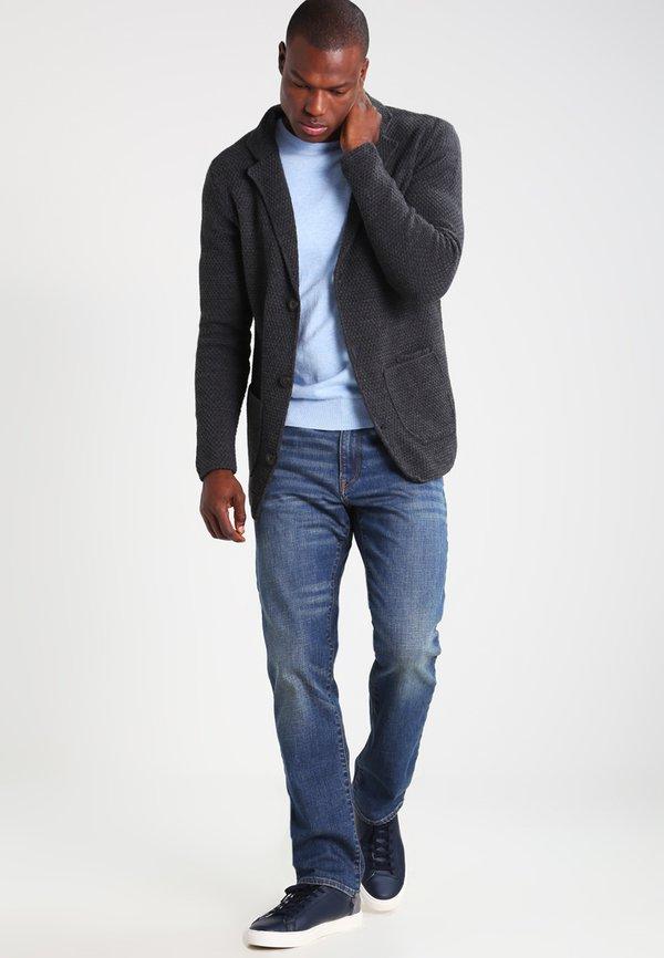 Pier One Kardigan - mottled dark grey/ciemnoszary melanż Odzież Męska UXWA