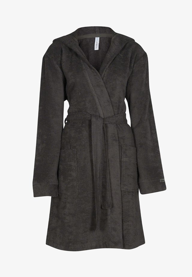 MIT KAPUZE  - Dressing gown - anthrazit