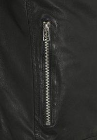 Goosecraft - GC ROSTOCK BIKER - Leather jacket - black - 6