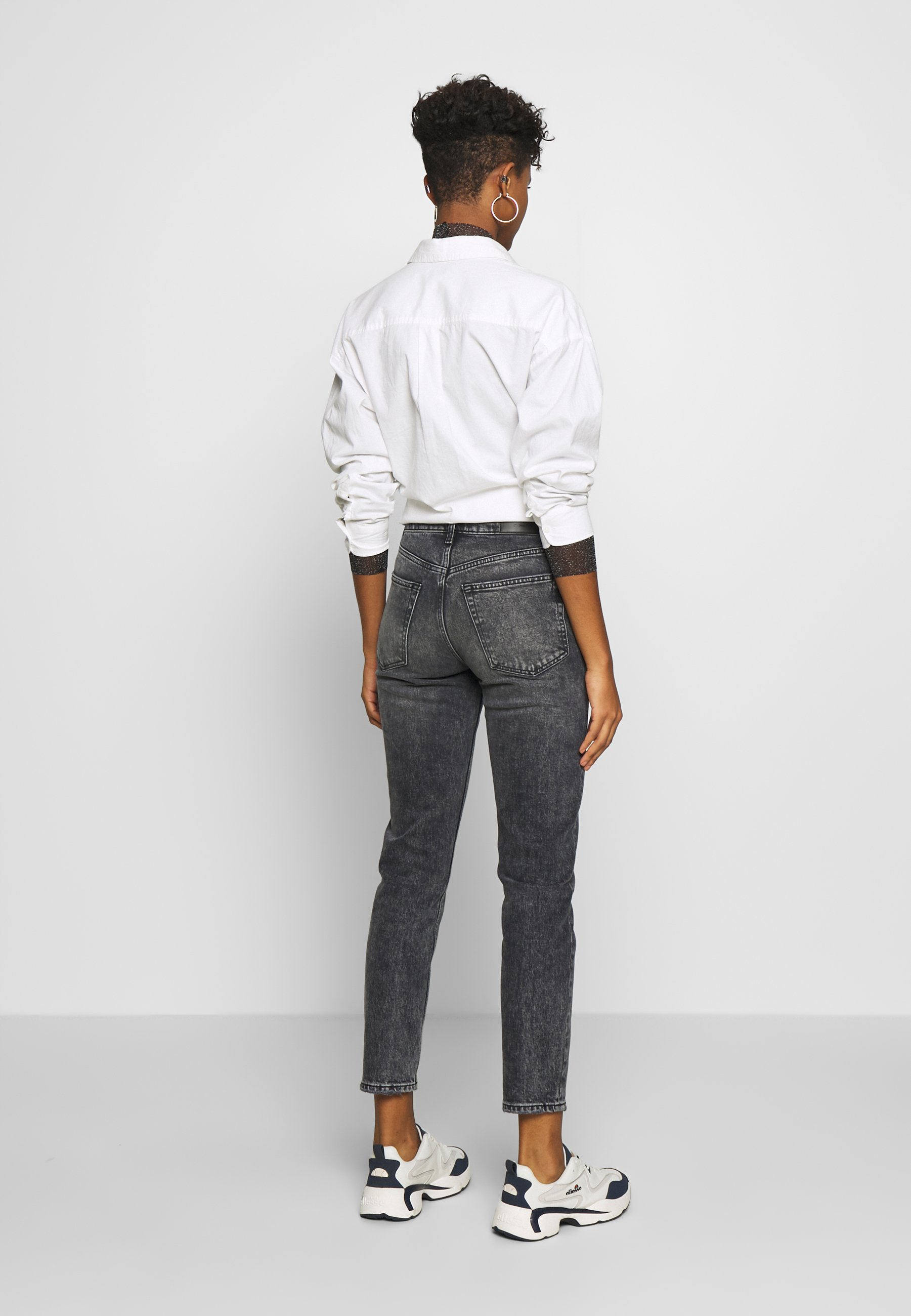 Gina Tricot TOVE ORIGINAL - Jean slim - black/grey - Jeans Femme PZnOy