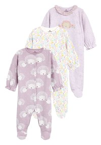 Next - 3 PACK HEDGEHOG SLEEPSUITS - Pyžamo - purple - 0