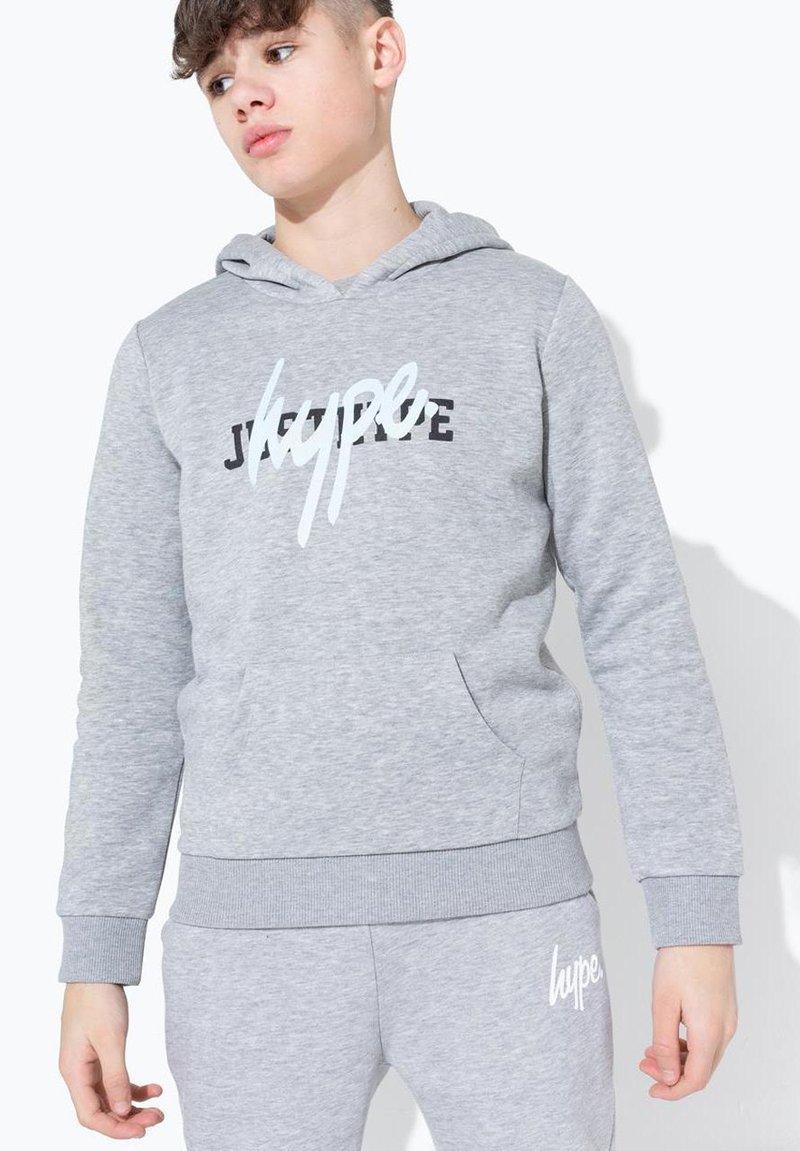 Hype - DOUBLE LOGO PRINT - Hoodie - grey