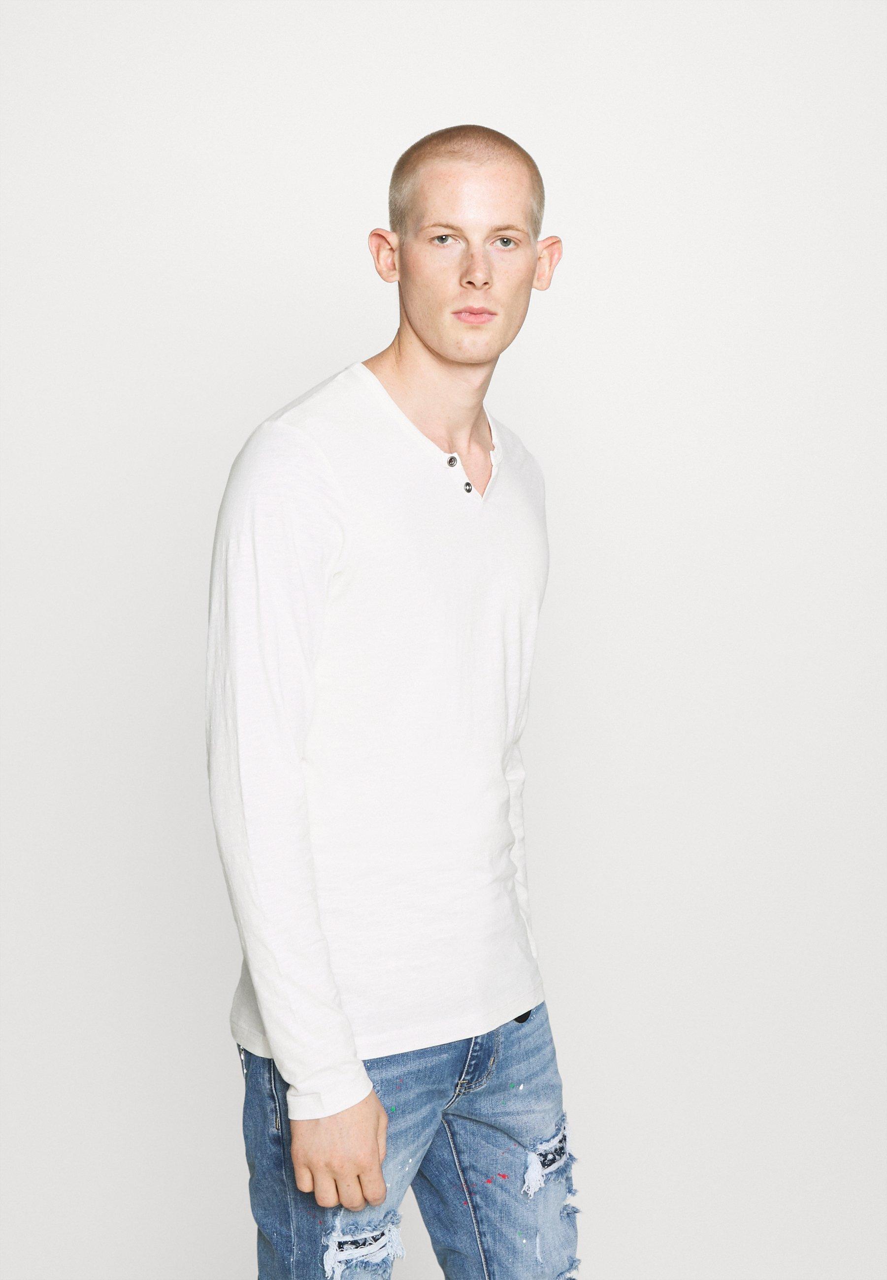 Men JJESPLIT NECK TEE - Long sleeved top