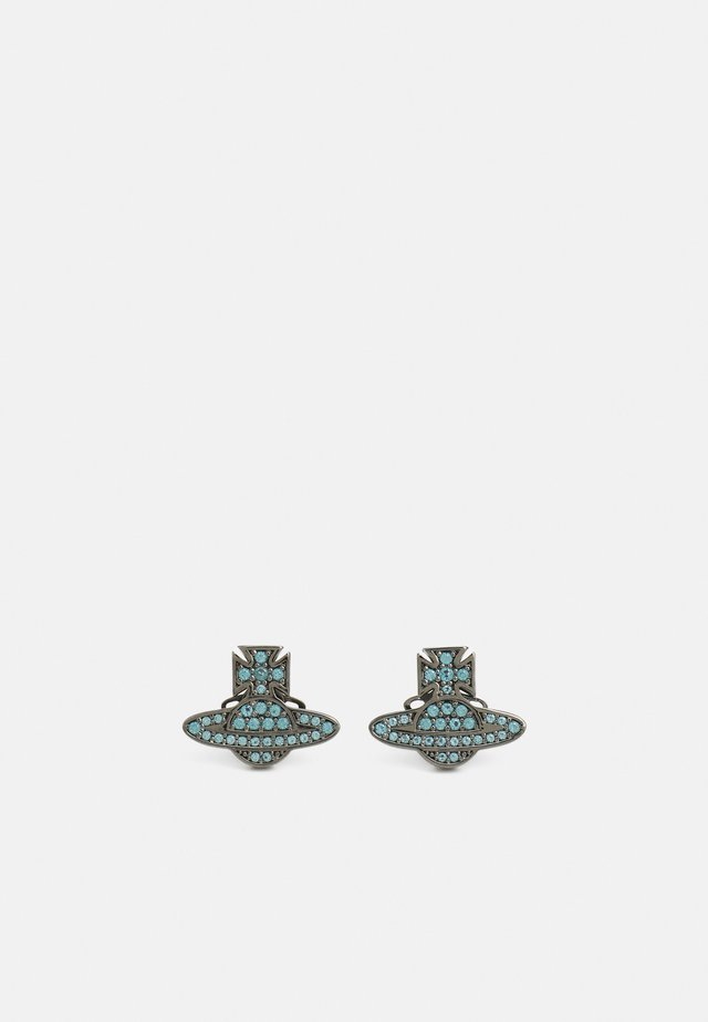 ROMINA PAVE ORB EARRINGS - Orecchini - gunmetal/blue