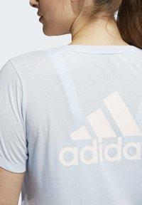 adidas Performance - GO TO T-SHIRT (PLUS SIZE) - T-shirt print - blue - 6