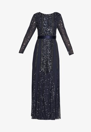 ALL OVER EMBELLISHED SPOT MAXI DRESS - Gallakjole - navy