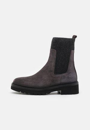 SIENA - Platform ankle boots - lavagna