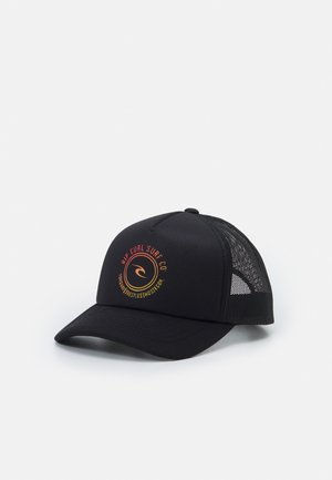 ALL DAY TRUCKER BOY - Cap - black/orange
