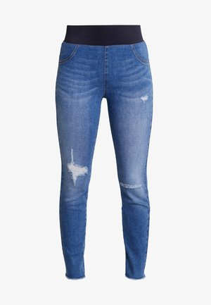 SHANTAL BROKEN - Jeggings - medium blue