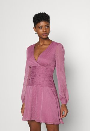 OWN IT DRAPY DRESS - Cocktailjurk - dark rose