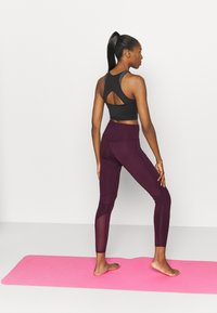 South Beach - PANELLED INSERT LEGGING - Trikoot - fig - 2