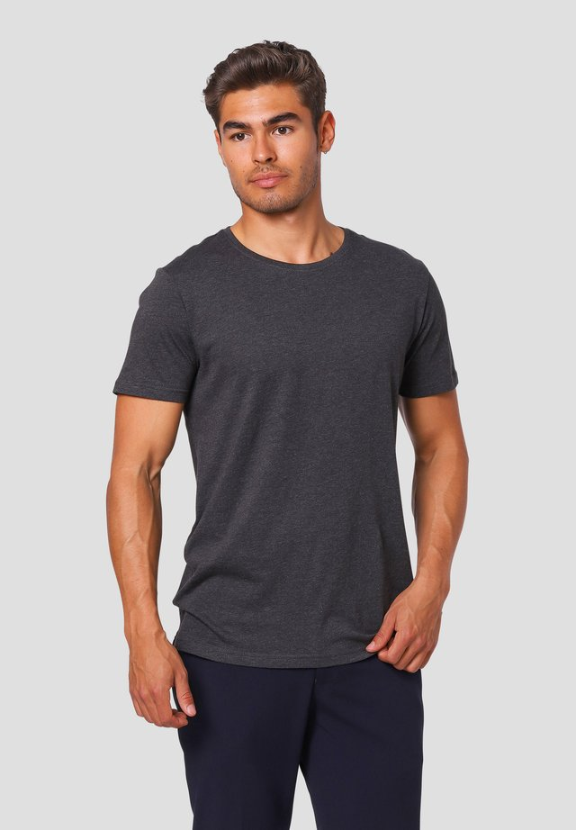 NOAH O - T-shirts basic - dk.grey mix