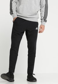 adidas Performance - MUST HAVES SPORT TIRO SLIM FIT PANT - Tracksuit bottoms - black/white - 0