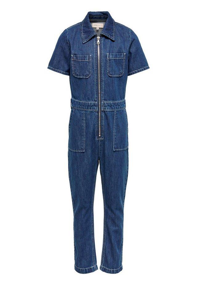 KIDS ONLY JUMPSUIT JEANS - Overall / Jumpsuit - dark blue denim