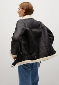 Mango - ADRI-I - Faux leather jacket - black - 2