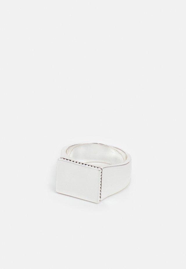 RECTANGLE SIGNET - Sormus - silver-coloured
