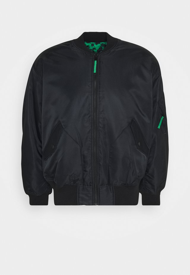 GREENFUZZ - Giubbotto Bomber - black