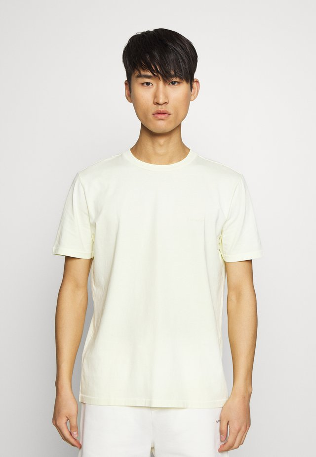 LIVE TEE - Basic T-shirt - yellow faded