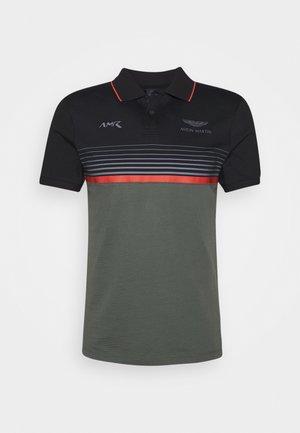STRIPE BLOCK - Poloshirt - black/green