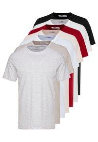 Topman - 7 PACK - Basic T-shirt - grey/white/ red - 0