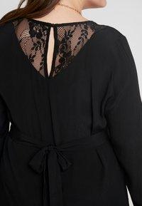 Zizzi - XGRENADINE DRESS - Robe d'été - black - 5