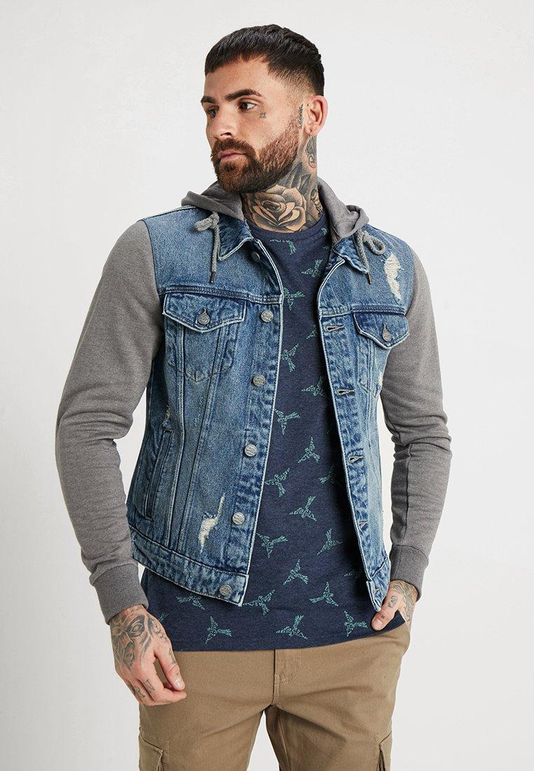Only & Sons - ONSCOIN HOOD TRUCKER - Denim jacket - blue denim