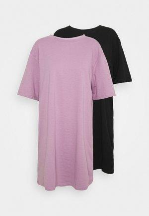 2 PACK - Jerseykjole - black/mauve