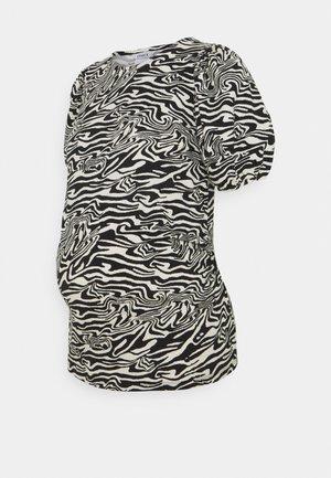 MOM PUFF SLEEVES - T-shirt print - light beige
