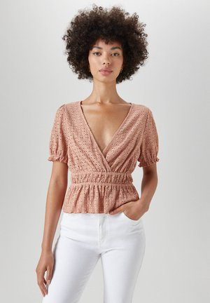 Blouse - rose gold