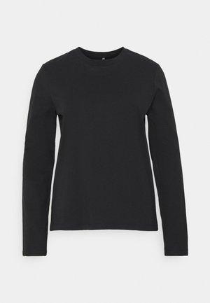 PCRIA NEW TEE - Long sleeved top - black
