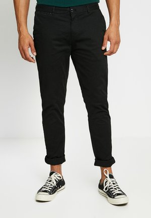 STUART CLASSIC SLIM FIT - Chinosy - black