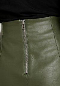 New Look - SEAMED - A-line skirt - dark khaki - 4