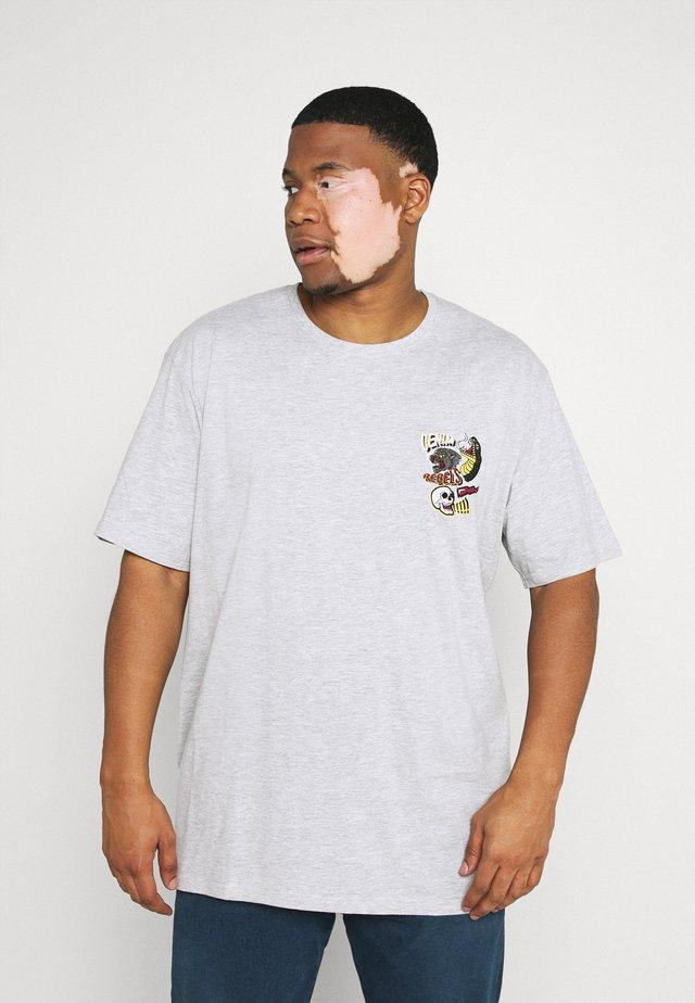 PRINTED TEE  - T-shirt con stampa - grey mel