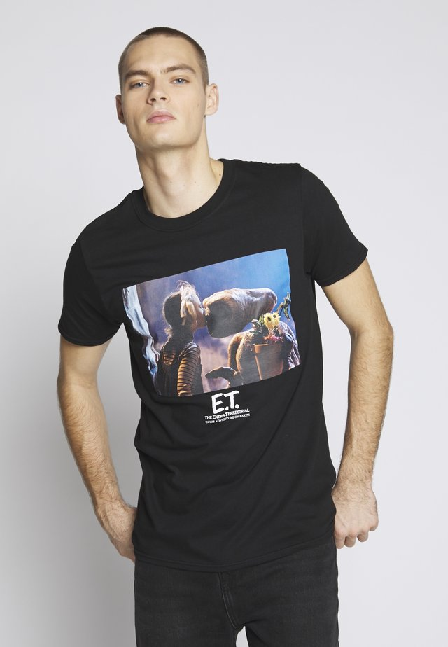 E.T. KISS - T-shirt imprimé - black