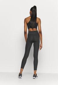 Nike Performance - FASTER 7/8 - Leggings - dark smoke grey/gunsmoke - 2