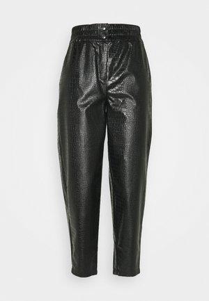 SRCROCO ANKLE PANT - Trousers - black