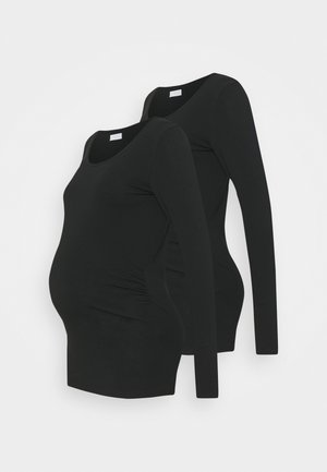 MLLEA 2 PACK - Long sleeved top - black