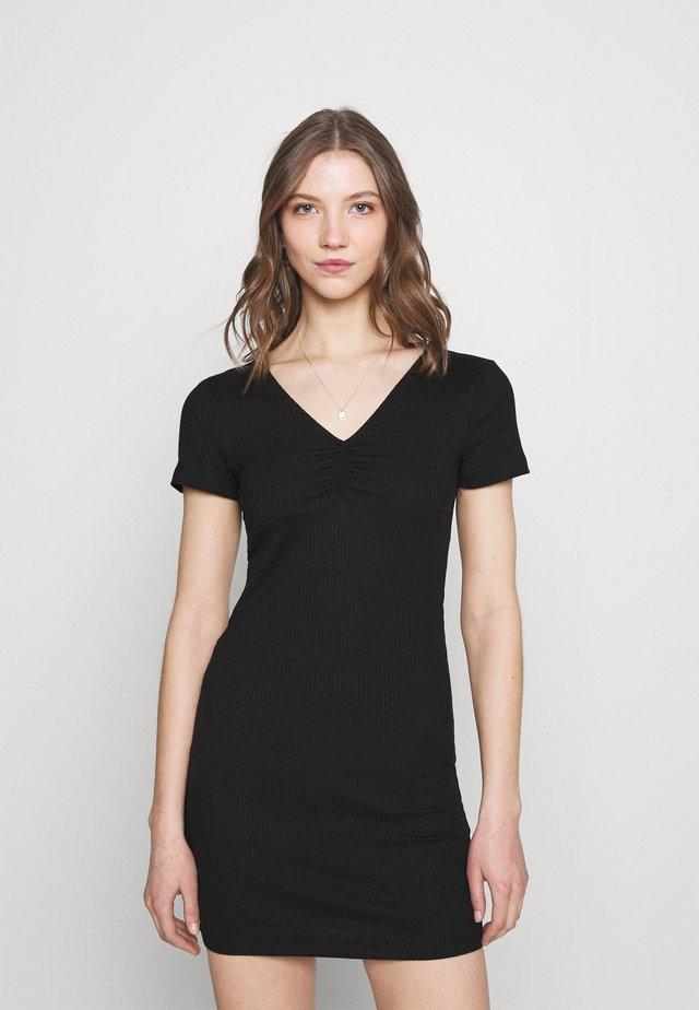 VICARISU SHORT DRESS - Žerzejové šaty - black