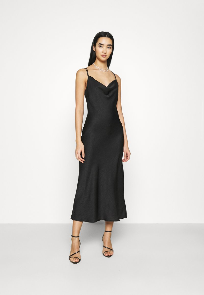 Vero Moda - VMCENTURY OPEN BACK DRESS - Společenské šaty - black