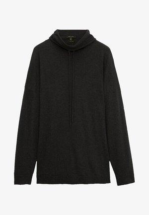 MIT KAPUZENKRAGEN - Sweatshirt - dark grey